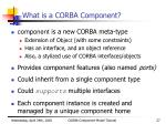 what is a corba component