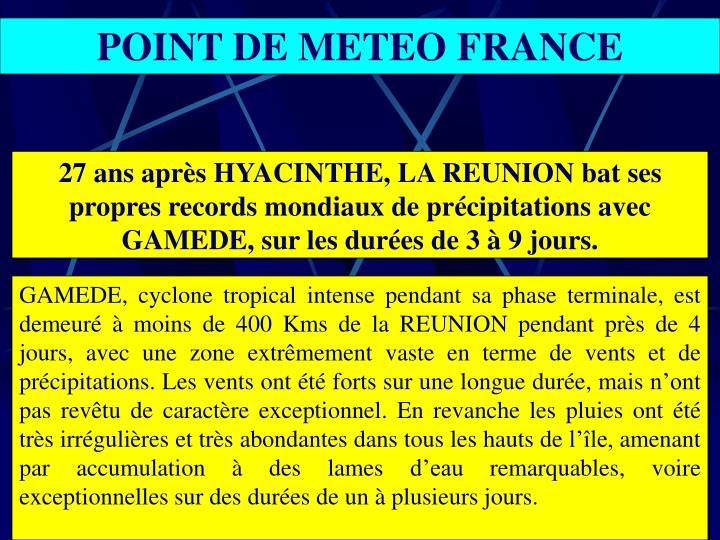 POINT DE METEO FRANCE