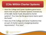 ccas within charter systems