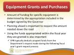 equipment grants and purchases3