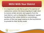 mou with your district4