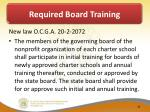 required board training