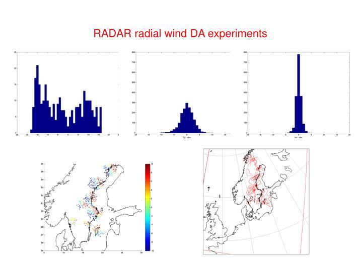 RADAR radial wind DA experiments