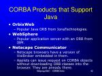 corba products that support java1