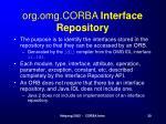 org omg corba interface repository