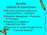 benefits institute government