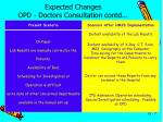 expected changes opd doctors consultation contd