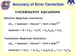 accuracy of error correction