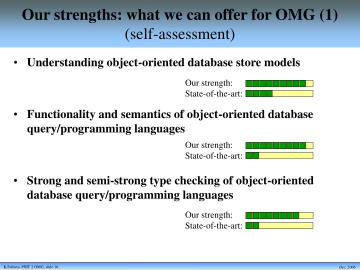 Our strengths: what we can offer for OMG (1)