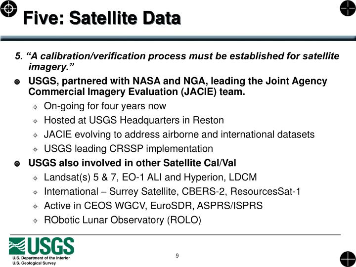 Five: Satellite Data