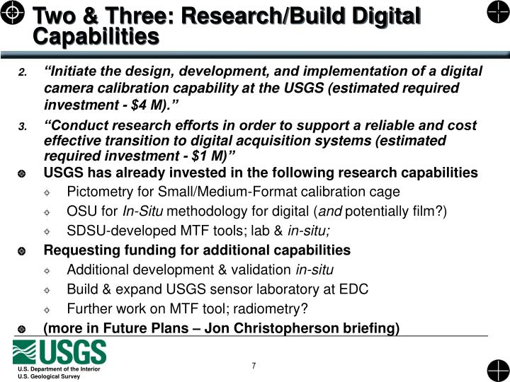 Two & Three: Research/Build Digital Capabilities