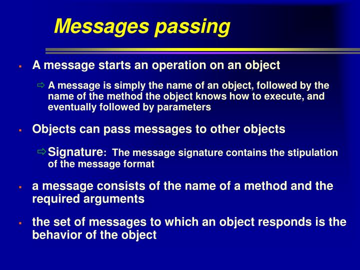 Messages passing