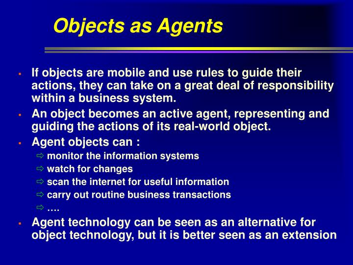 Objects as Agents