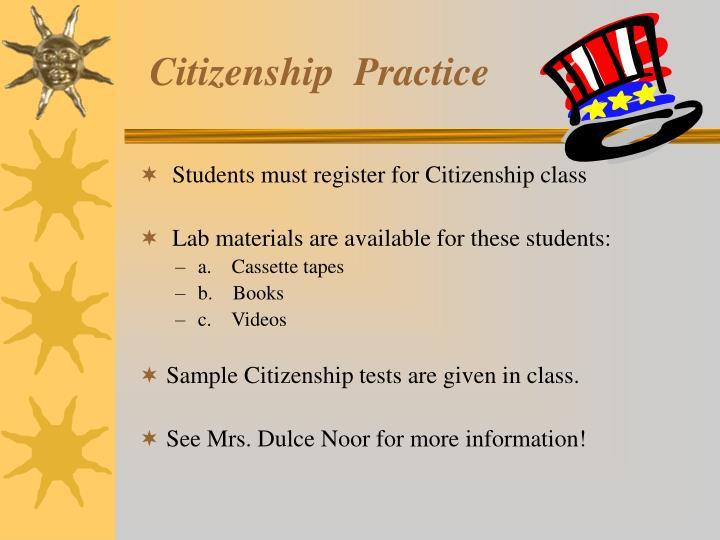Citizenship  Practice