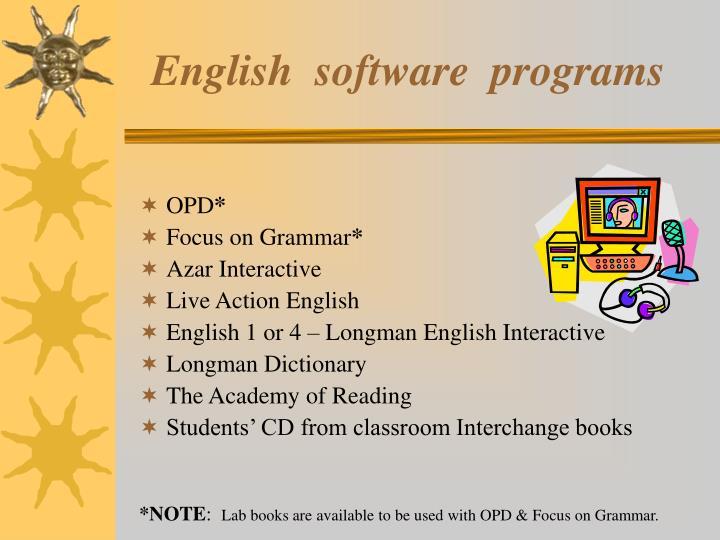 English  software  programs