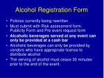 alcohol registration form
