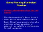 event planning fundraiser timeline