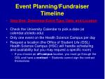 event planning fundraiser timeline1