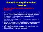 event planning fundraiser timeline2
