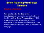 event planning fundraiser timeline7