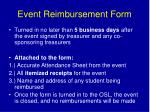 event reimbursement form