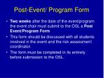 post event program form1