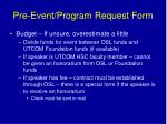 pre event program request form1