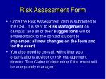risk assessment form1