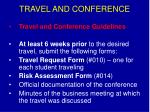 travel and conference