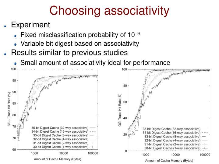 Choosing associativity