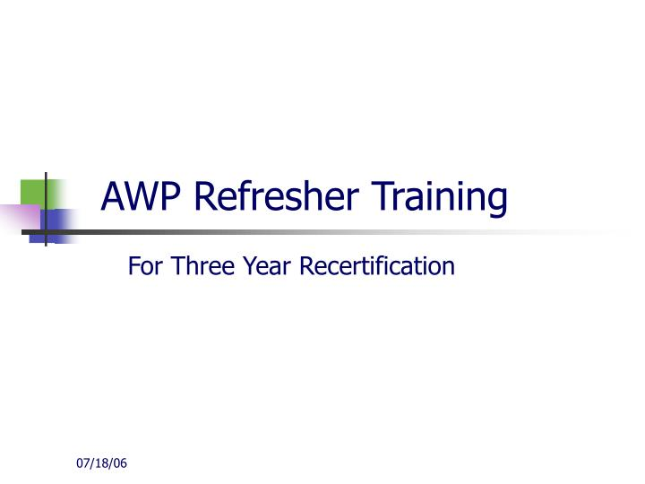 awp refresher training n.