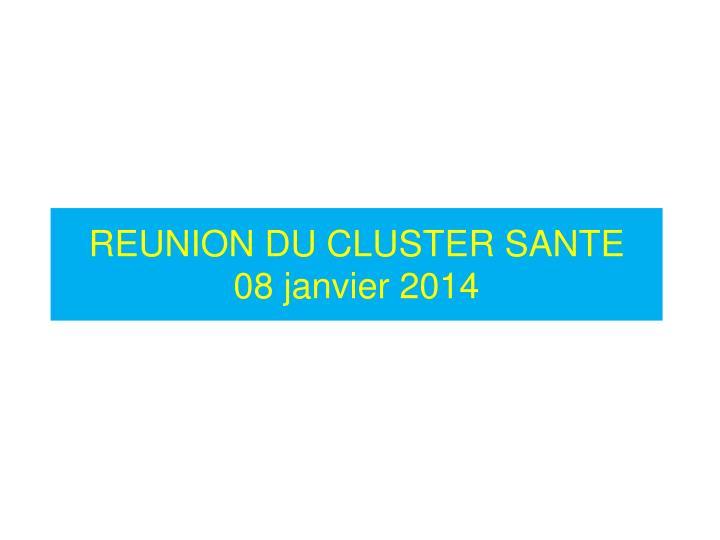 Reunion du cluster sante 08 janvier 2014