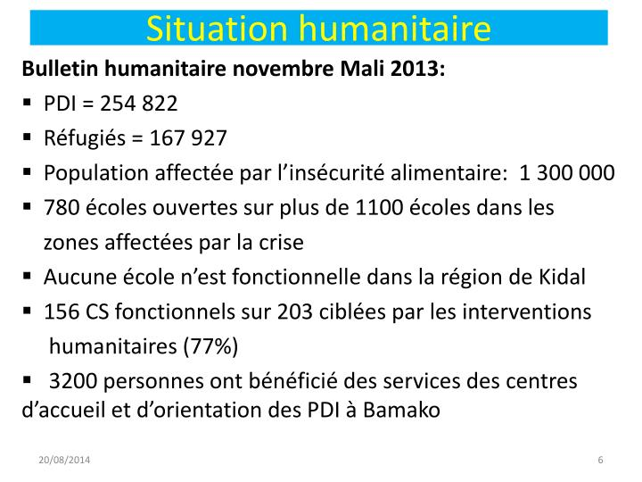 Situation humanitaire