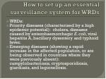 how to set up an essential surveillance system for wrds1