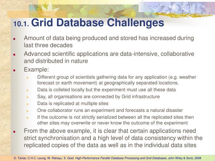 10 1 grid database challenges