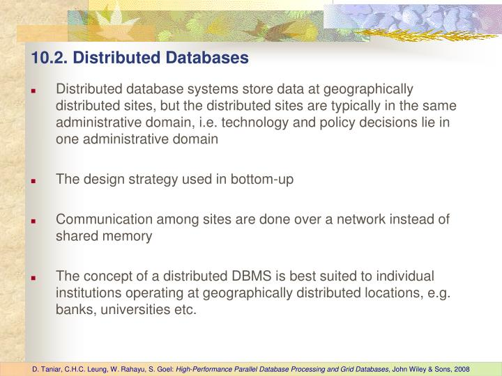 10.2. Distributed Databases