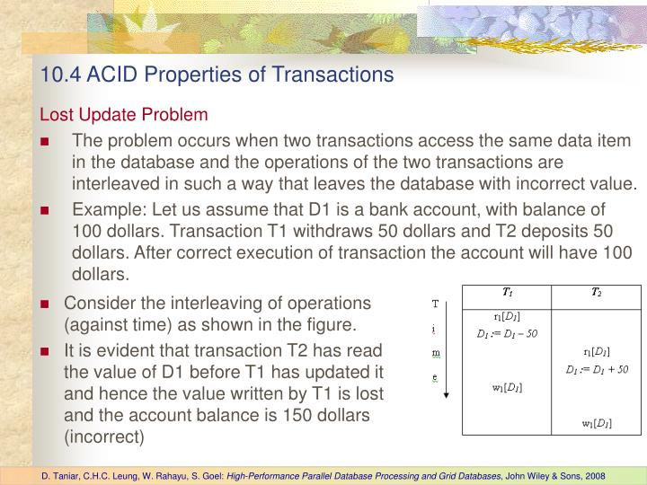 10.4 ACID Properties of Transactions