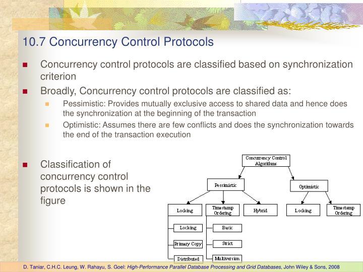 10.7 Concurrency Control Protocols
