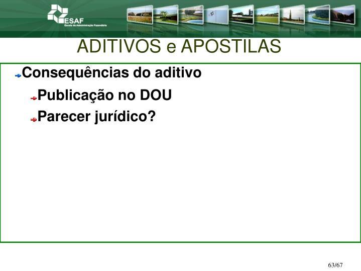 ADITIVOS e APOSTILAS