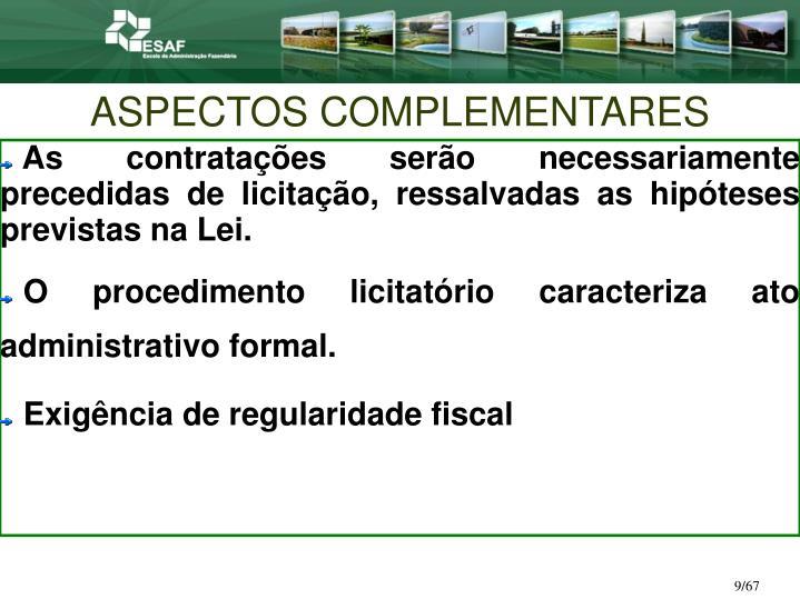 ASPECTOS COMPLEMENTARES