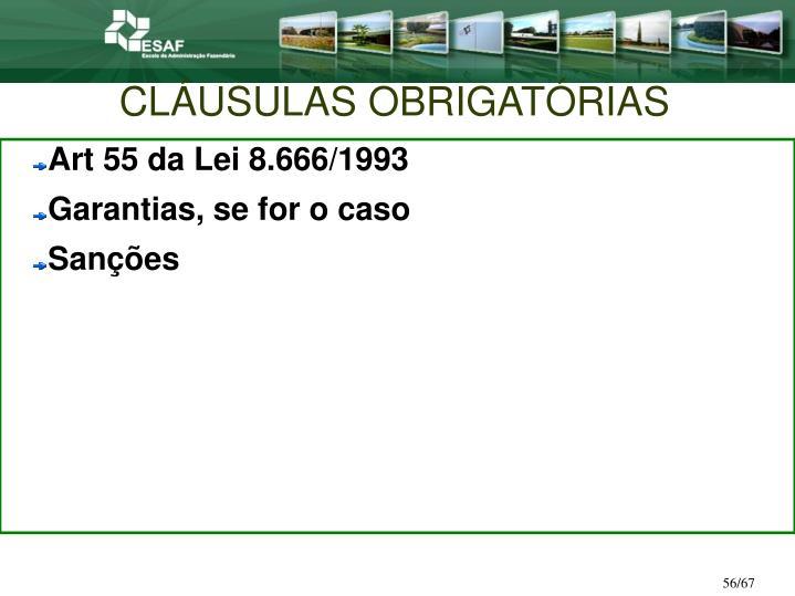 CLÁUSULAS OBRIGATÓRIAS
