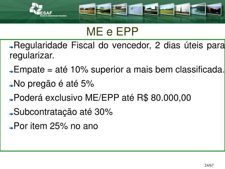ME e EPP