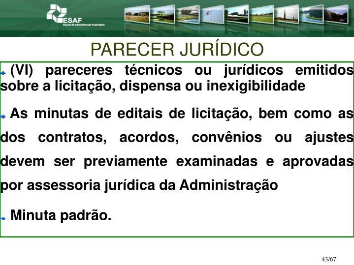 PARECER JURÍDICO