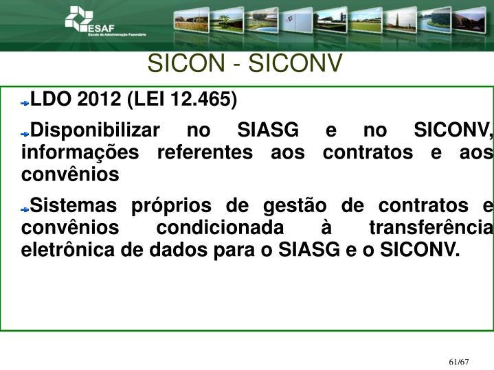 SICON - SICONV