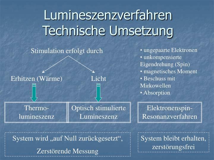 Lumineszenzverfahren