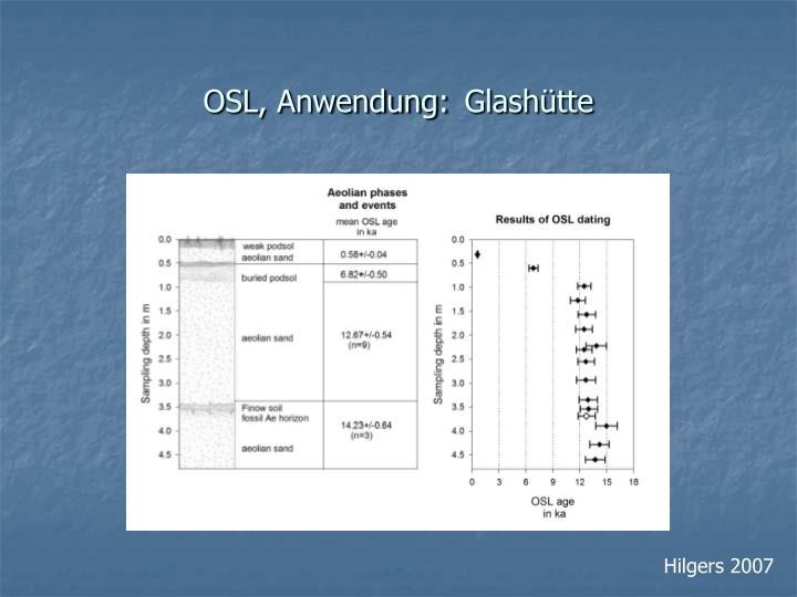 OSL, Anwendung: