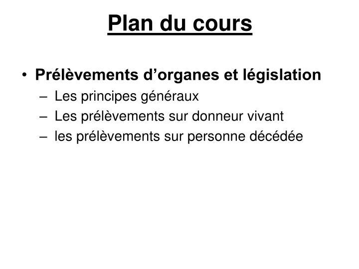 Plan du cours1