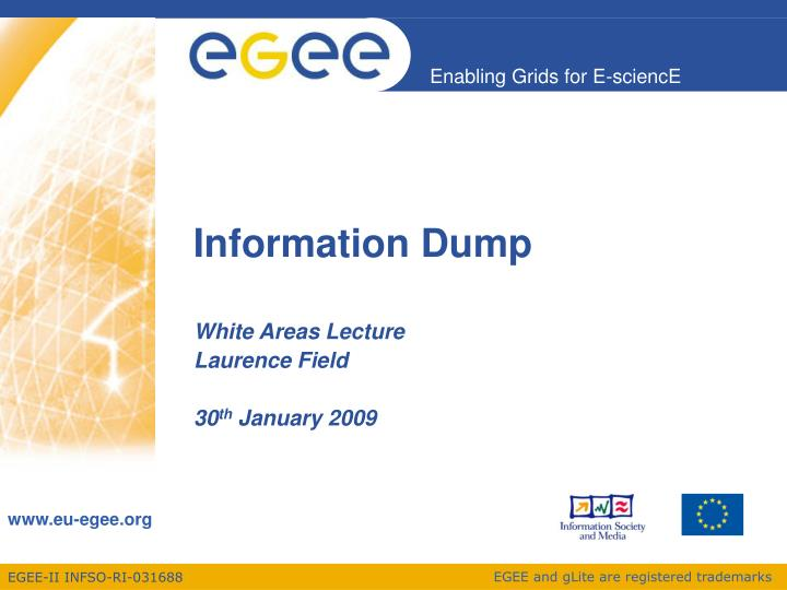 information dump n.