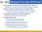 moving into the open grid forum