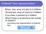 ordered tree representation